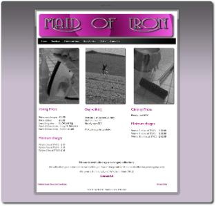 Maid of Iron Web Page by TM Communications